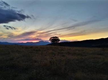 Tramonto dal Monte Canfaito - Il rosso del sole e l'oro dei faggi